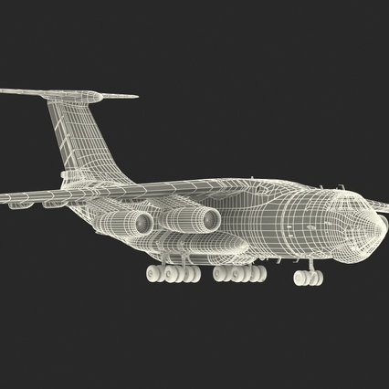 Ilyushin Il-76 Emergency Russian Air Force Rigged. Render 6