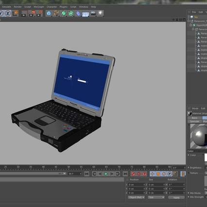 Panasonic Toughbook. Render 25