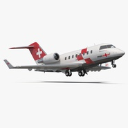 Swiss Air Ambulance Jet Bombardier Challenger 604