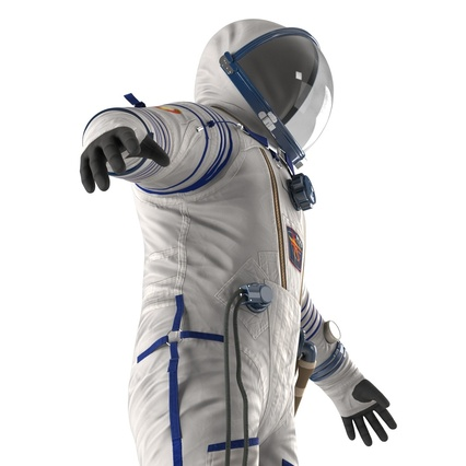 Russian Space Suit Sokol KV2 Rigged. Render 27
