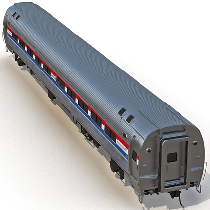Railroad Amtrak Passenger Car 2. Render 13