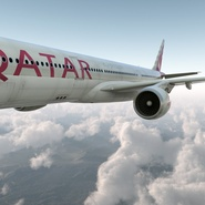 Jet Airliner Airbus A330-300 Qatar Rigged. Preview 14