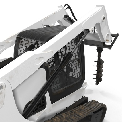 Compact Tracked Loader with Auger. Render 28
