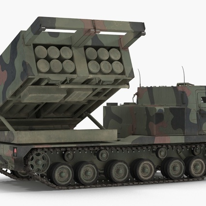 US Multiple Rocket Launcher M270 MLRS Camo. Render 2