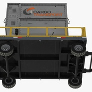 Airport Luggage Trolley Baggage Trailer with Container. Preview 24