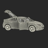 Generic Hybrid Car Rigged. Preview 8