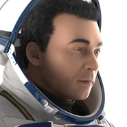 Russian Astronaut Wearing Space Suit Sokol KV2 Rigged for Maya. Preview 34