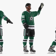 Hockey Player Stars Rigged for Maya. Preview 8