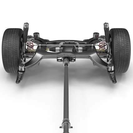 Sedan Chassis. Render 25