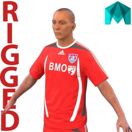 Soccer Player Rigged for Maya. Render 1