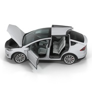 Tesla Model X Rigged. Preview 18