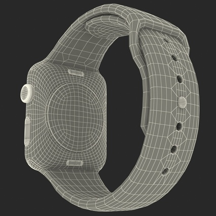 Apple Watch Sport Band White Fluoroelastomer 2. Render 48