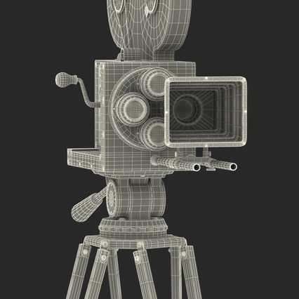 Vintage Video Camera and Tripod. Render 47