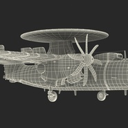 Grumman E-2 Hawkeye Tactical Early Warning Aircraft Rigged. Preview 27