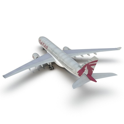 Jet Airliner Airbus A330-200 Qatar. Render 24