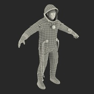 Russian Astronaut Wearing Space Suit Sokol KV2 Rigged for Maya. Preview 55