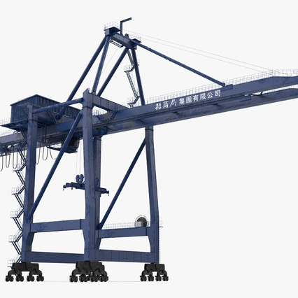 Container Crane Blue. Render 7