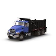 Dump Truck Mack Rigged. Preview 3